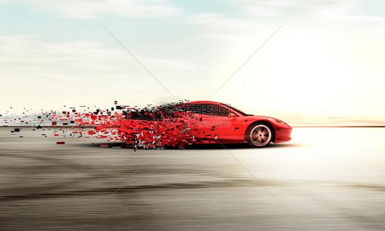 炫酷跑车场景图片
