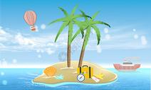 夏季海岛背景图片