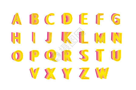 创意英文字母图片