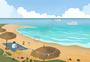 夏季海边度假图片