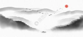 山水中国风背景图片