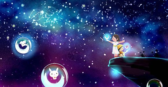 星空夏夜之旅图片