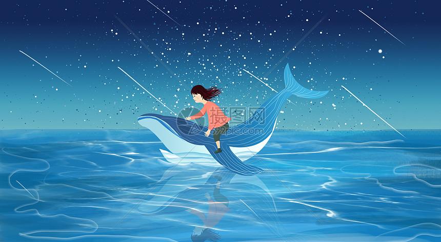 鲸鱼和女孩儿图片