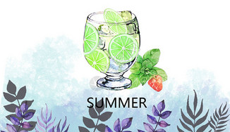 夏日冷饮图片