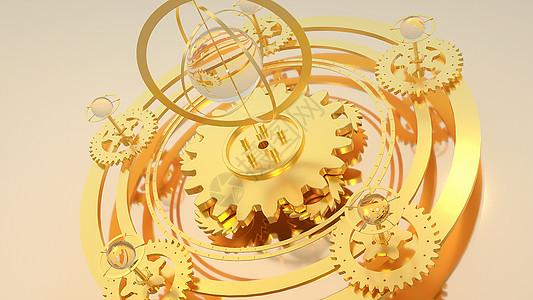 创意金色科技齿轮图片