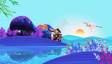 唯美风景插画图片