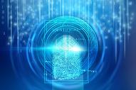 科技指纹解锁背景图片