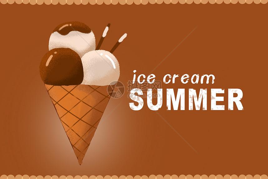 巧克力冰淇淋图片