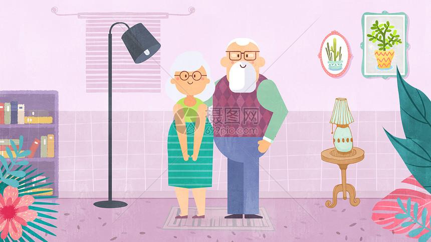 老年人惬意生活图片