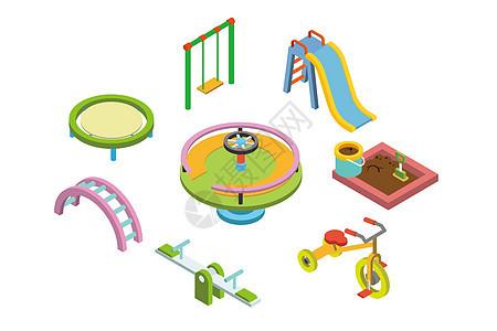 儿童游乐场背景素材图片