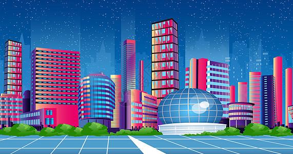 炫酷的城市景观图片