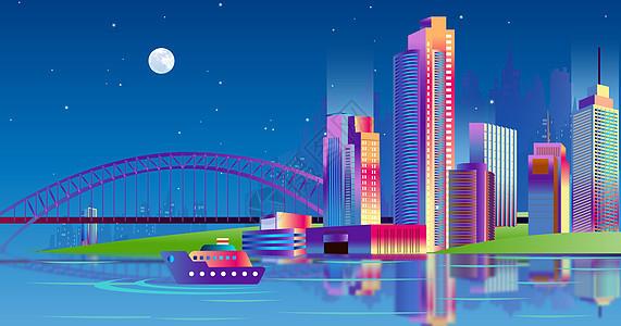 多彩绚丽城市图片