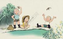 童趣钓龙虾图片