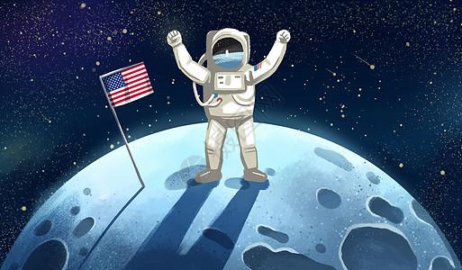 人类月球日图片