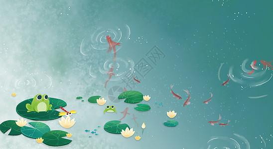 夏季水面图片