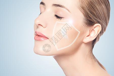 面部防晒霜图片