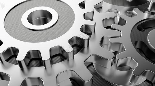3D机械齿轮背景图片