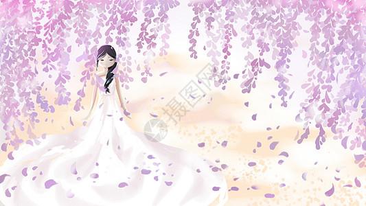 花雨婚纱图片
