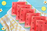 小清新西瓜水果静物背景图片