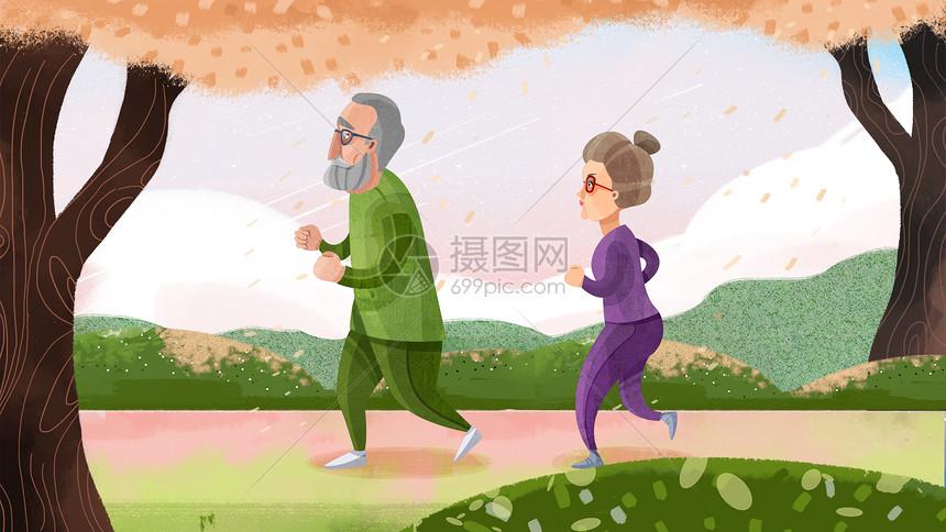 老人健身运动图片