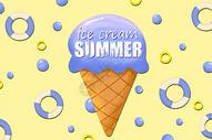 夏日冰淇淋背景图片