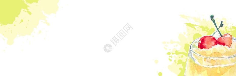 水彩留白背景高清图片
