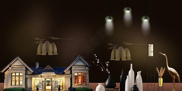 新中式房地产背景图片
