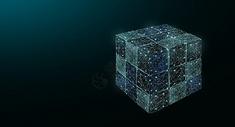 立体魔方科技背景图片