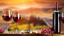 红葡萄酒背景图片