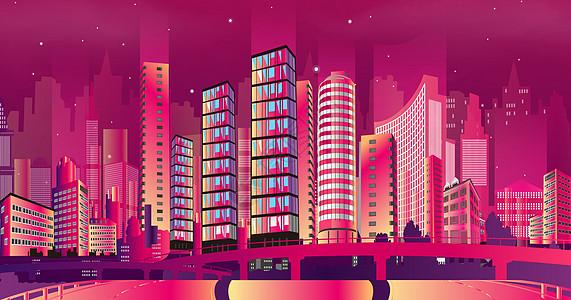 彩色绚丽城市图片