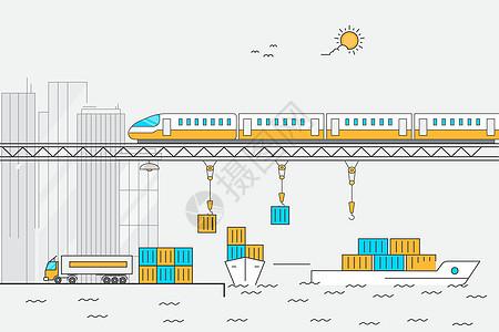 物流码头运输图片