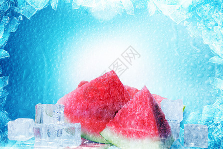 夏日冰爽水果西瓜图片
