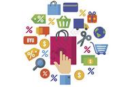 互联网购物图标背景素材图片