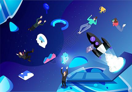科技宇宙矢量办公图片