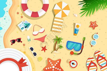 海边旅行元素图片
