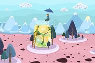 夏日冰饮世界图片
