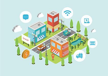 智能支付城市图片