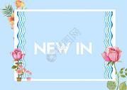 蓝色小清新背景图片