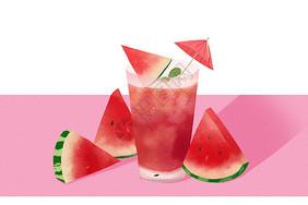 西瓜汁冷饮图片