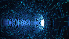科技隧道场景图片