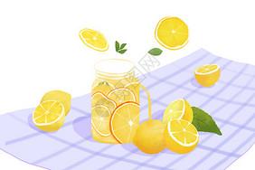 夏日柠檬冷饮图片