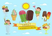 夏天冰淇淋图片