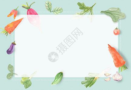 手绘水彩果蔬海报图片