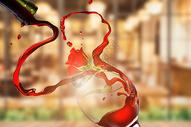创意红酒场景图片
