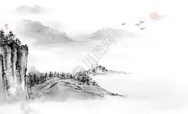 中国古风水墨风景图片