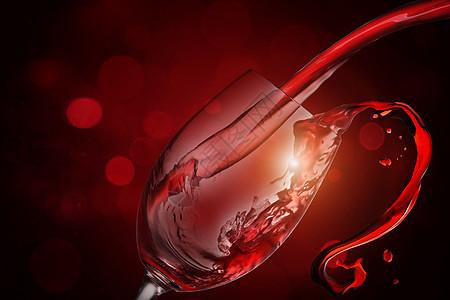红酒溅出图片
