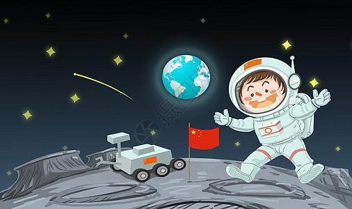 太空旅行探索月球图片