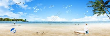 沙滩休闲背景图片