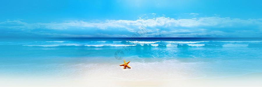 海滩休闲背景图片