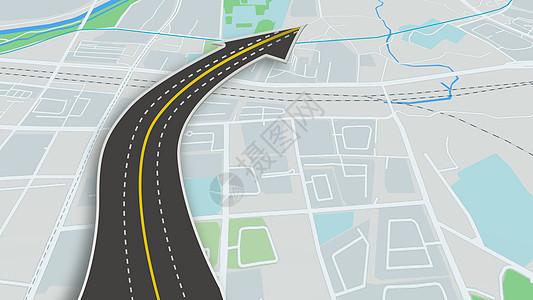 公路导航场景图片